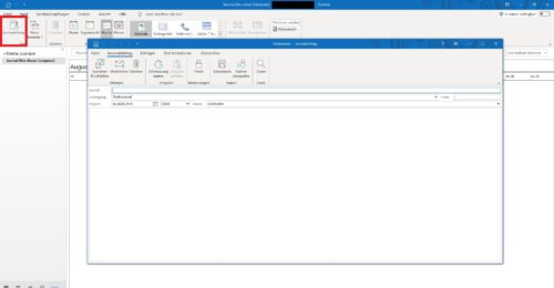 El diario en Outlook 365.
